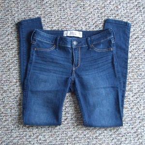 Hollister blue stretch jean legging 0 short 24